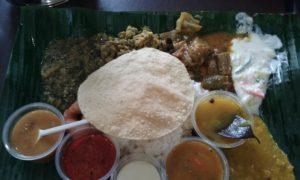 南インド料理Komala Vilas Restaurantの盛りだくさんライスセット