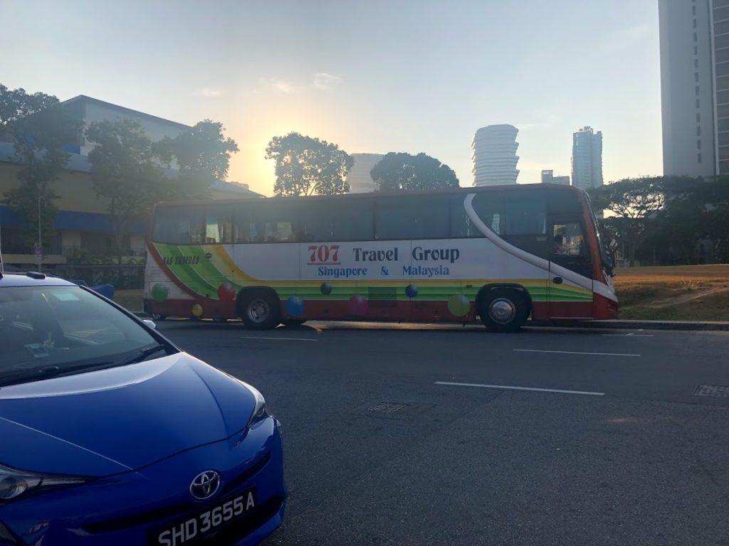 シンガポール、ブギス駅出口Aから徒歩3分のBan San Street(Queens Street)の風景