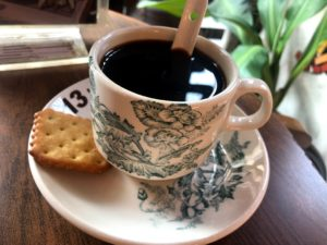 Caranthe Art Caféでオーダーしたコーヒー