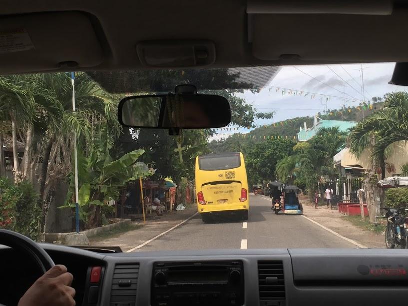 ベルトラのツアーの車からの風景