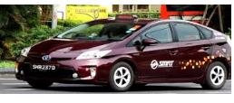 シンガポールのタクシーSMRTの外観