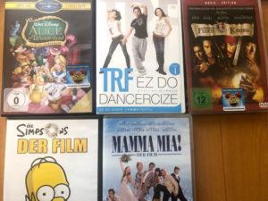 ブックマニアに販売したDVDダンスエクササイズとドイツ語のいろいろ