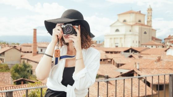 観光旅行のイメージ。