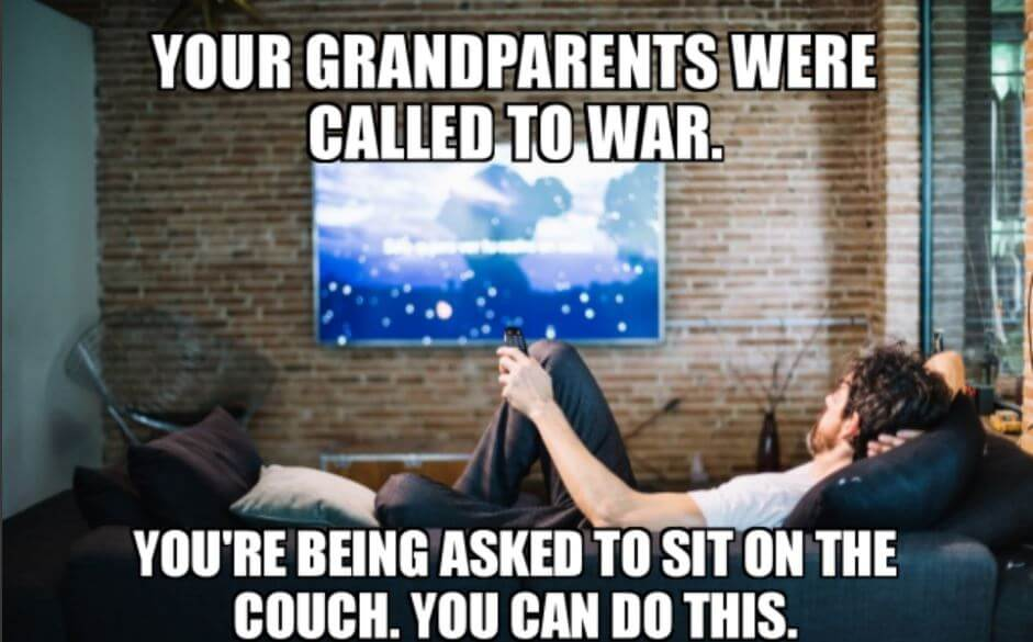 your grandparents were called to were. you are being asked to sit in couch. you can do this