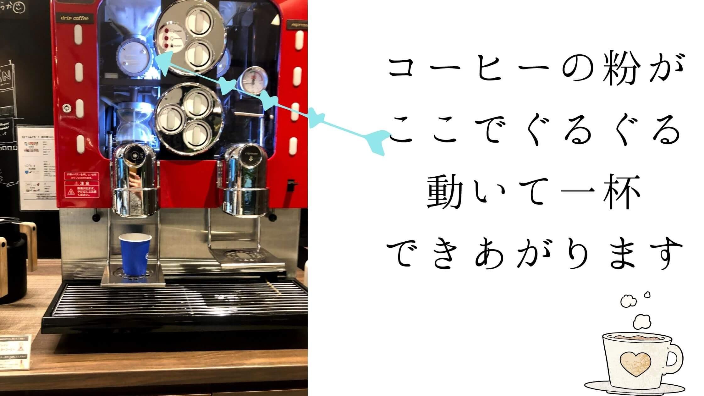 ビジネスエアポート渋谷南平台の素敵なコーヒーマシーン